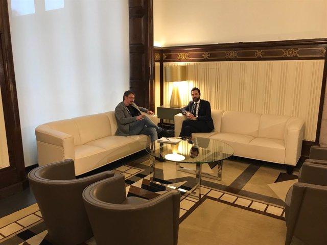 Xavier Domènech y Roger Torrent