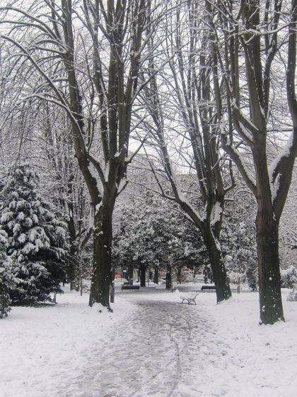 Aemet activa la alerta naranja por nevadas en el interior de Gipuzkoa