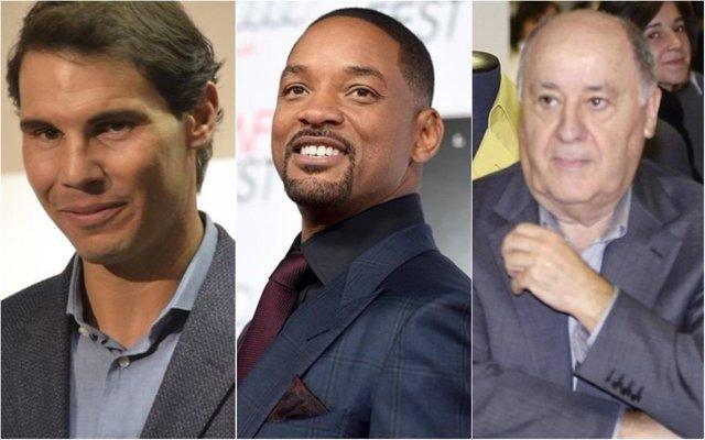 Rafa Nadal, Will Smith y Amancio Ortega