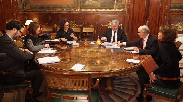 Armengol y Cladera en la última reunión con Montoro (archivo)