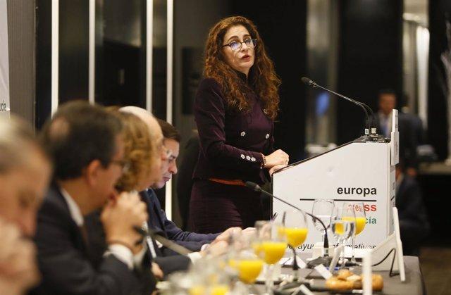 Selección De Fotos 2 Del Desayuno Informativo Con María Jesús Montero, Consejera