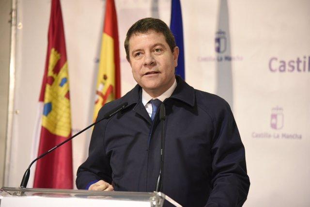 Emiliano García-Page inaugurando la EDAR de Tresjuncos
