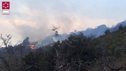 Estabilizado el incendio de Montán (Castellón)