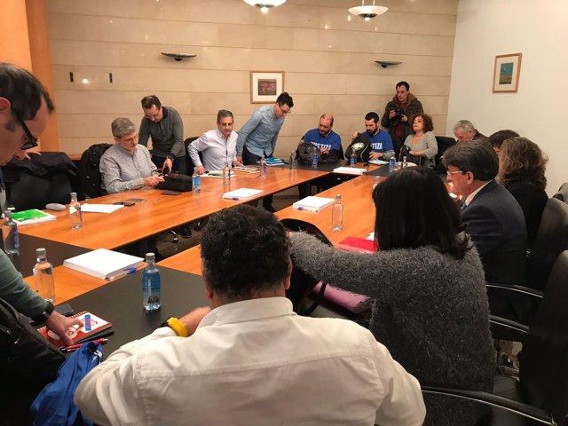 Foto huelga Justicia reunión lunes 19