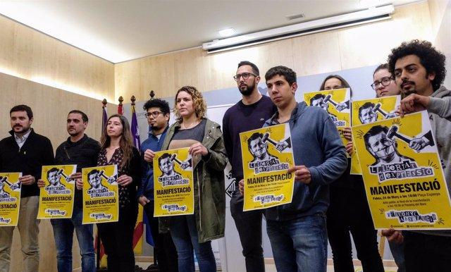 Cort llama a movilizarse este sábado en defensa de Valtonyc y de la libertad de expresión