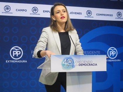 """El PP dice que Vara tendrá que dar """"explicaciones"""" si el PSOE rechaza los PGE que recogen revalorizar las pensiones"""