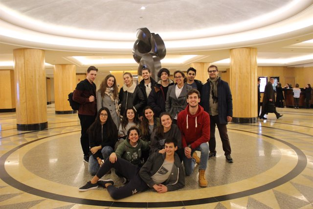 Estudiantes del Colegio Alemán en su viaje a la ONU