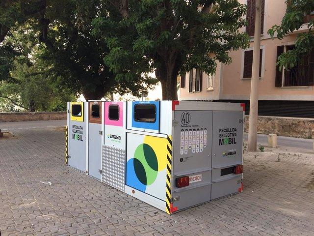 Emaya comienza en el barrio de Cort la segunda fase de la recogida selectiva móvil en el centro de Palma