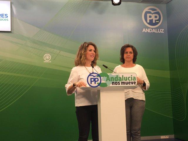 Ana Mestre y Catalina García, en rueda de prensa este lunes