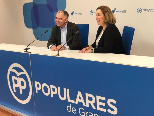 Los diputados del PP Santiago Pérez  y Silvia Valmaña