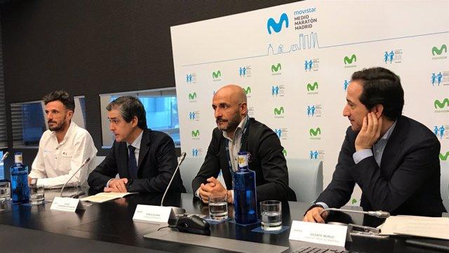 Chema Martínez en la presentación del Medio Maratón de Madrid
