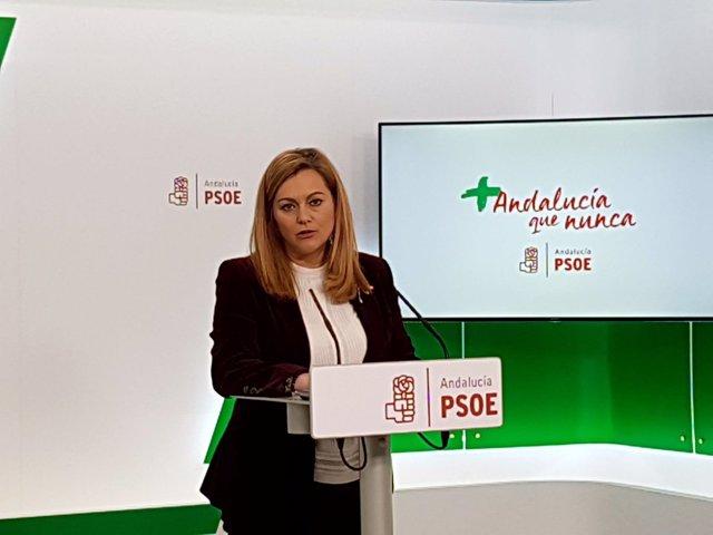 María Jesús Serrano, este lunes en rueda de prensa