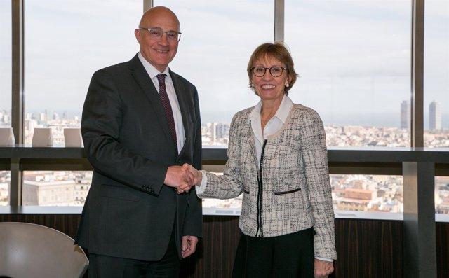 Josep Oliu (Banco Sabadell) y Eugenia Bieto (Esade)