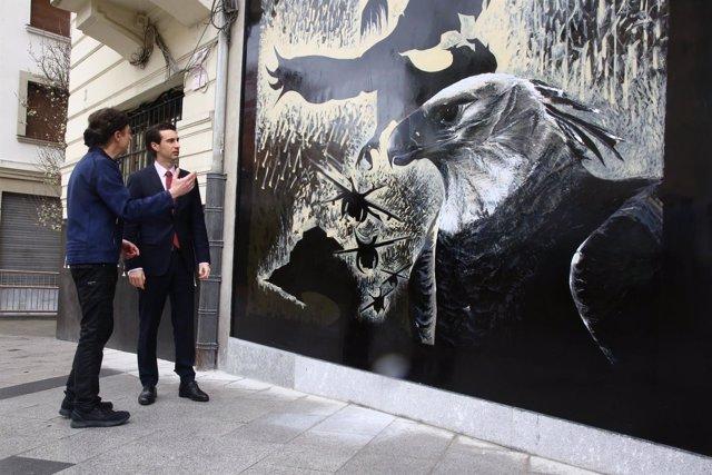 Mural en el espacio 'Aretxaga-Miribilla' en Bilbao