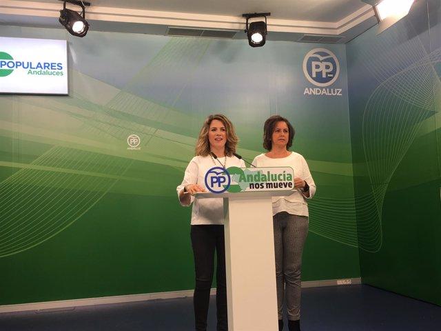 Las diputadas del PP-A Ana Mestre y Catalina García en rueda de prensa