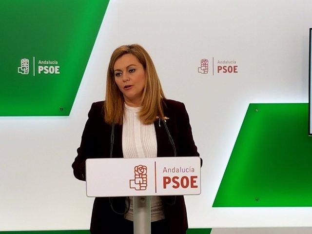 La secretaria de Política Municipal del PSOE-A, María Jesús Serrano,