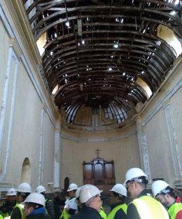 Obras en el convento de la Sagrada Familia de Pinto
