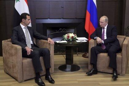 """Al Assad felicita a Putin por la """"excepcional confianza"""" del pueblo ruso"""