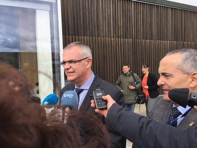 El delegado del Gobierno en Galicia en un acto en Lugo.