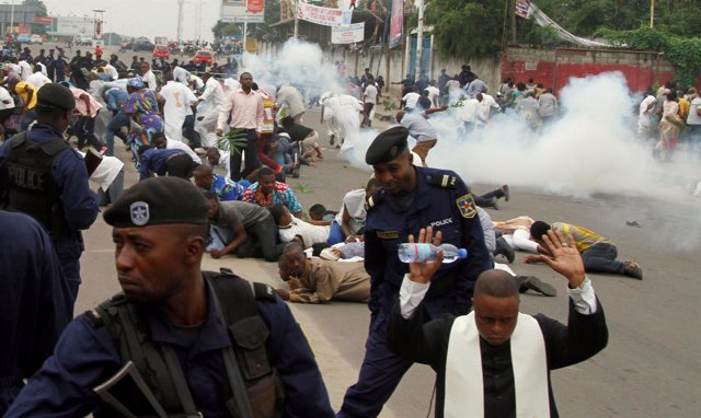 Protestas en Kinshasa contra Kabila