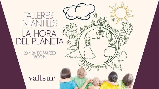 La Hora del Planeta en el centro comercial Vallsur
