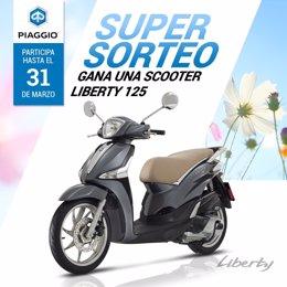 La red de concesionarios Piaggio de Cataluña sortea una Piaggio Liberty 125