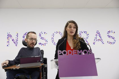 Echenique dice que serán los territorios los que negocien las excepciones a la marca 'Podemos' en las municipales