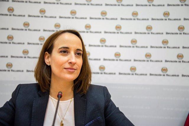 La portavoz de Ciudadanos en la Diputación de Valladolid, Pilar Vicente. Recurso