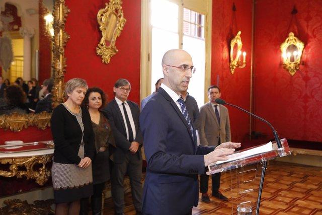 El director de la Oficina Anticorrupción, Jaume Far, en su toma de posesión