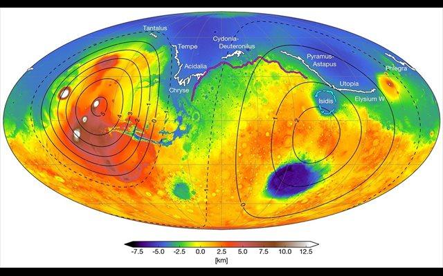 Un vulcanismo masivo propició la aparición temprana de océanos en Marte