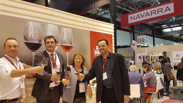 La consejera Elizalde en la feria internacional de vinos en Düsseldorf