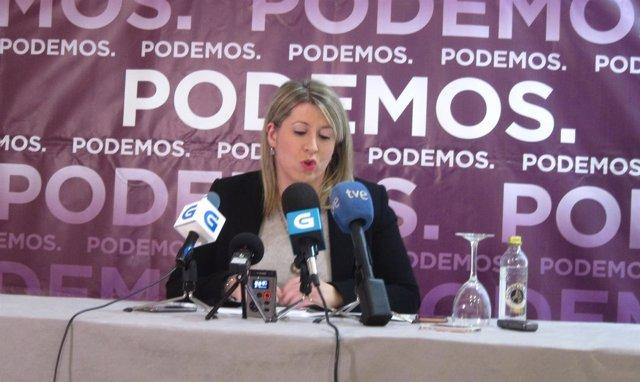 La secretaria de Podemos Galicia, Carmen Santos