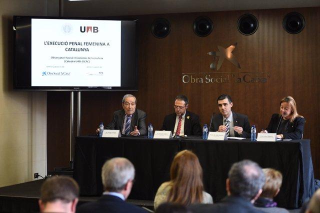 J.Lanaspa (Fund.Caixa) A.Calderó (S.Penits.) J.J.Naveira (Cicac) E.Zapater (UAB)