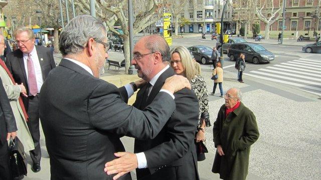 El rector de la UZ recibe el pésame de Javier Lambán