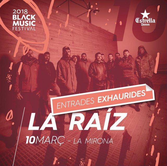 Cartel de La Raíz en el Black Music Festival