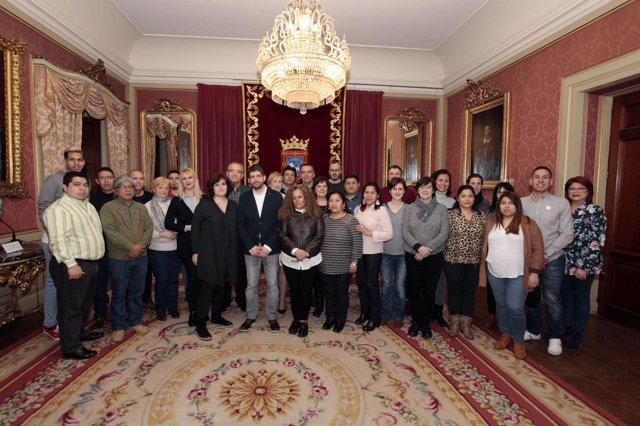 Recepción del Ayuntamiento de Pamplona al Foro de la Diversidad Cultural