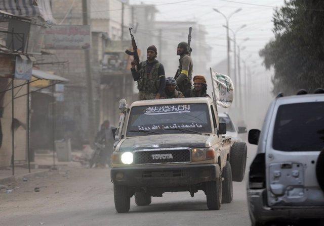 Fuerzas apoyadas por Turquía en Afrin