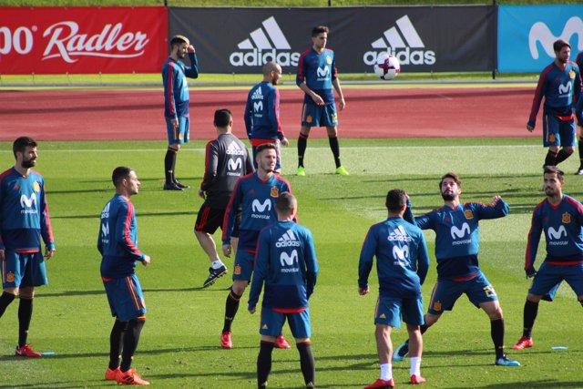 Entrenamiento (Selección española de fútbol)