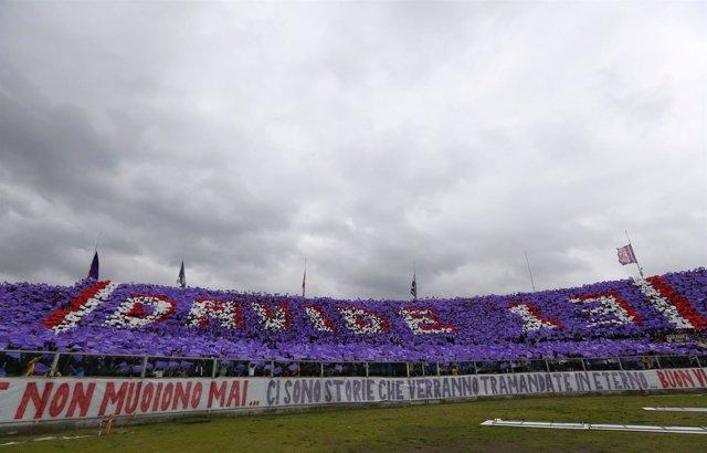 Homenaje a Davide Astori en el estadio Artemio Franchi