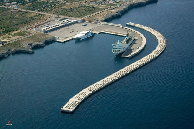 Vista aérea del puerto de Ciutadella