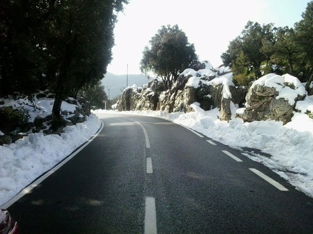 Carretera nevada Caimari-Lluc