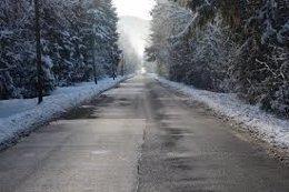 Imagen de una carreteras de CyL con nieve 20/03/2018