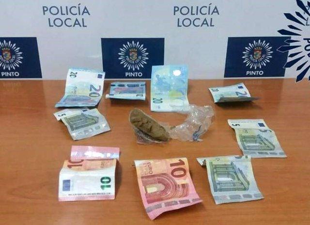Droga en Pinto, operación policial