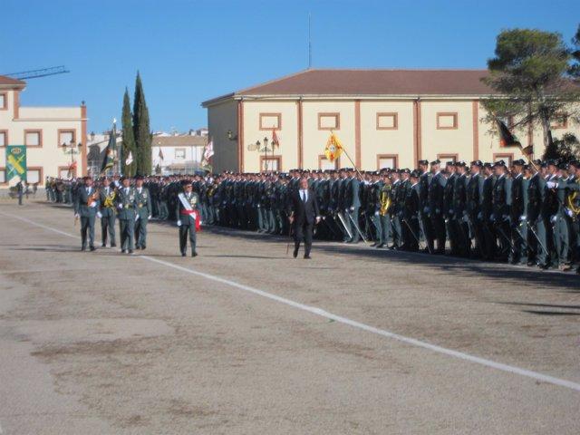 Último acto de jura de bandera en Baeza