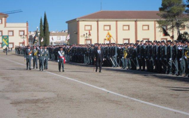 La Guardia Civil organiza en Baeza (Jaén) un acto de jura de bandera para personal Civil