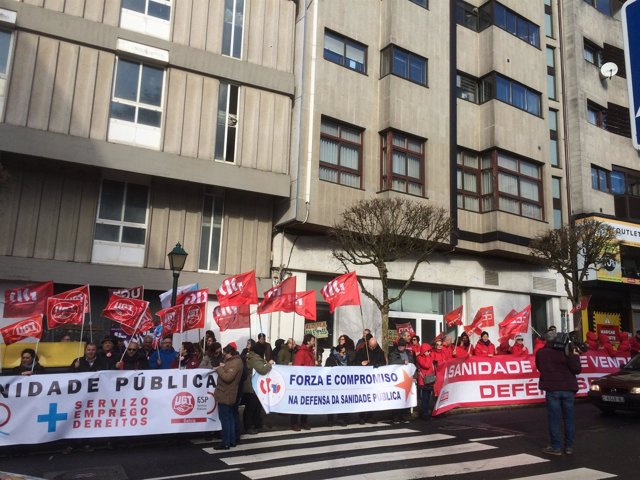 Protesta contra la reforma de la ley gallega de salud.