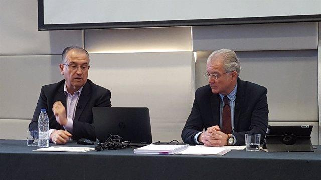 Enrique Maya y Juanjo Echeverría esta mañana.