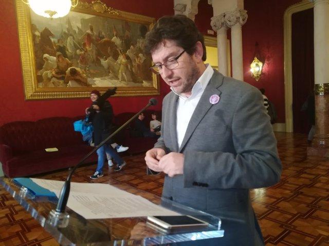 Portavoz y diputado de Podemos en Baleares, Alberto Jarabo