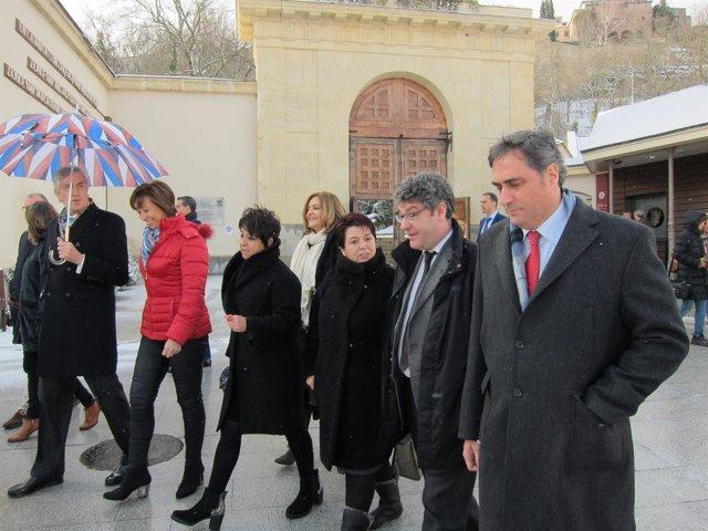 Nadal Y La Alcaldesa De Segovia (C) Antes De Inaugurar Las Jornadas 20-3-2017