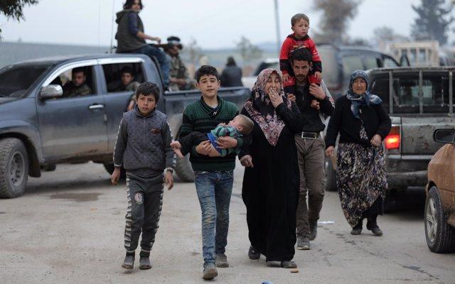 ACNUR cifra en 45.000 y 104.000 los desplazados en Ghuta Oriental y en Afrin